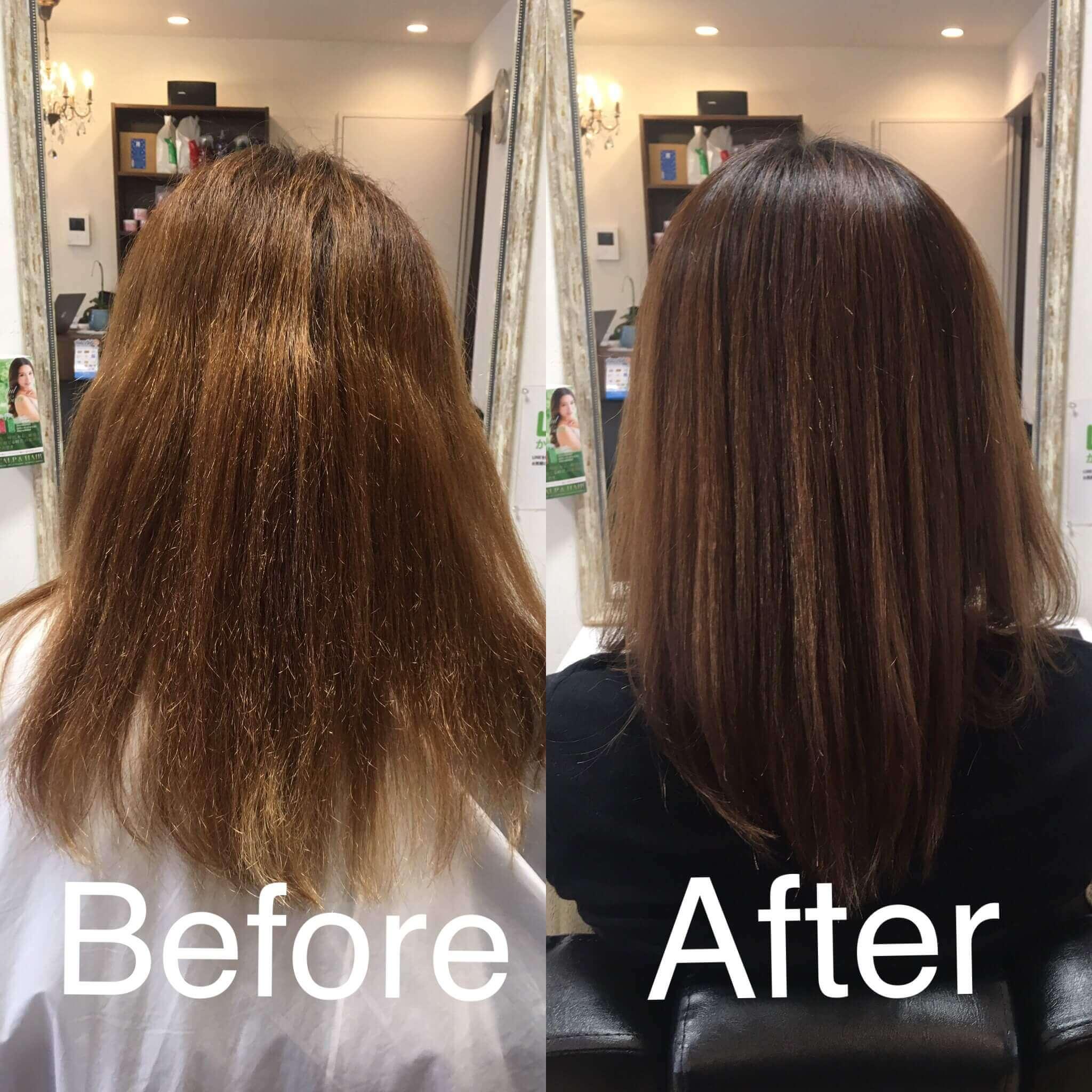 阿倍野の美容院(美容室)アトリ 縮毛矯正・髪質改善その1