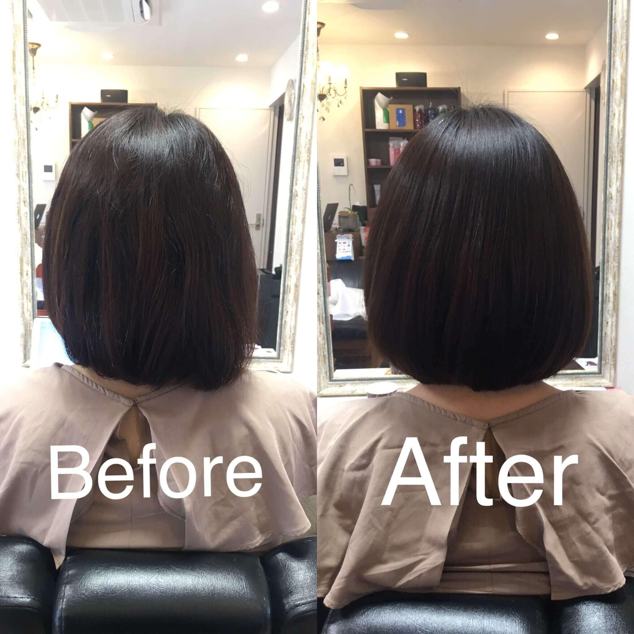 阿倍野の美容院(美容室)アトリ 縮毛矯正・髪質改善その2