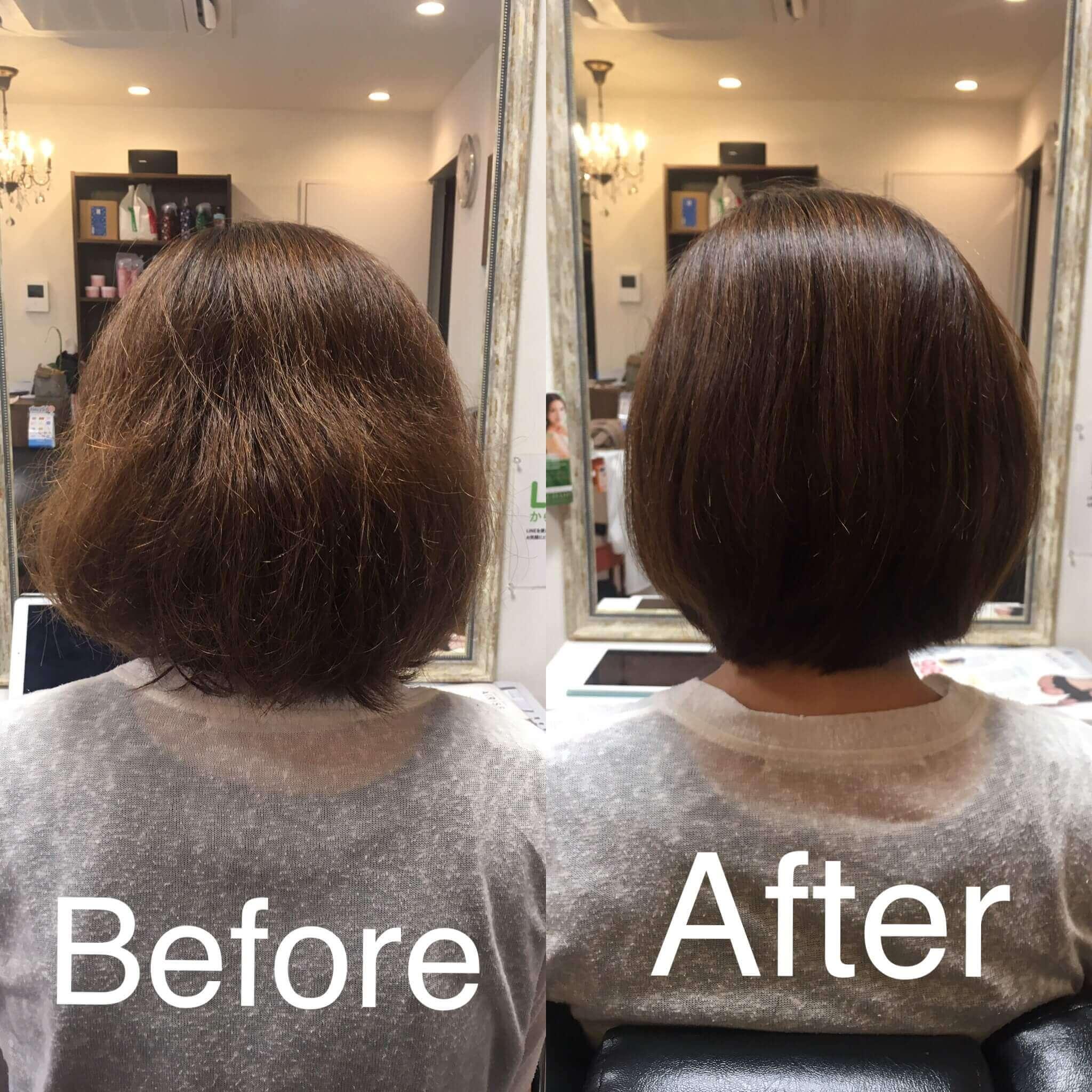 阿倍野の美容院(美容室)アトリ 縮毛矯正・髪質改善その3