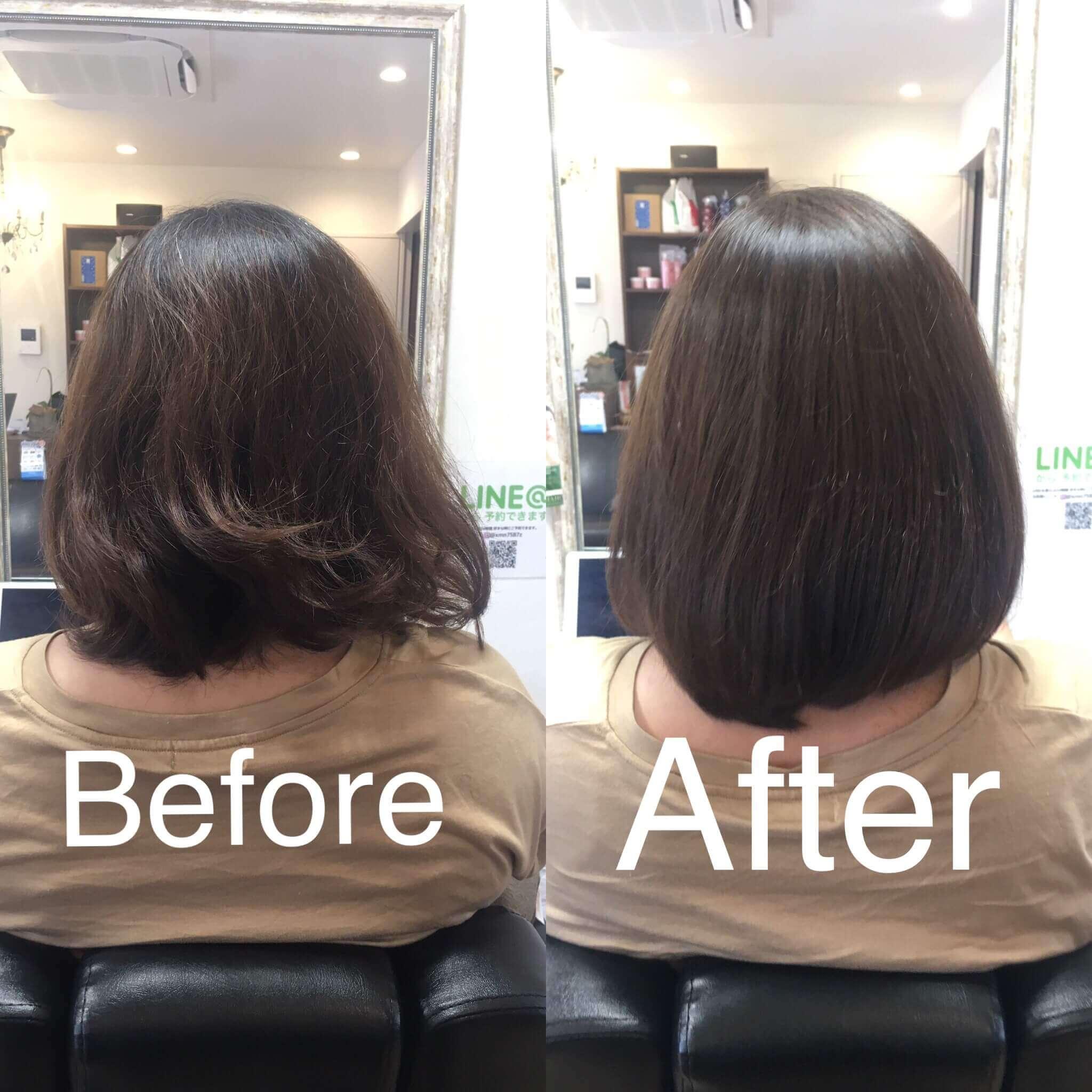 阿倍野の美容院(美容室)アトリ 縮毛矯正・髪質改善その4