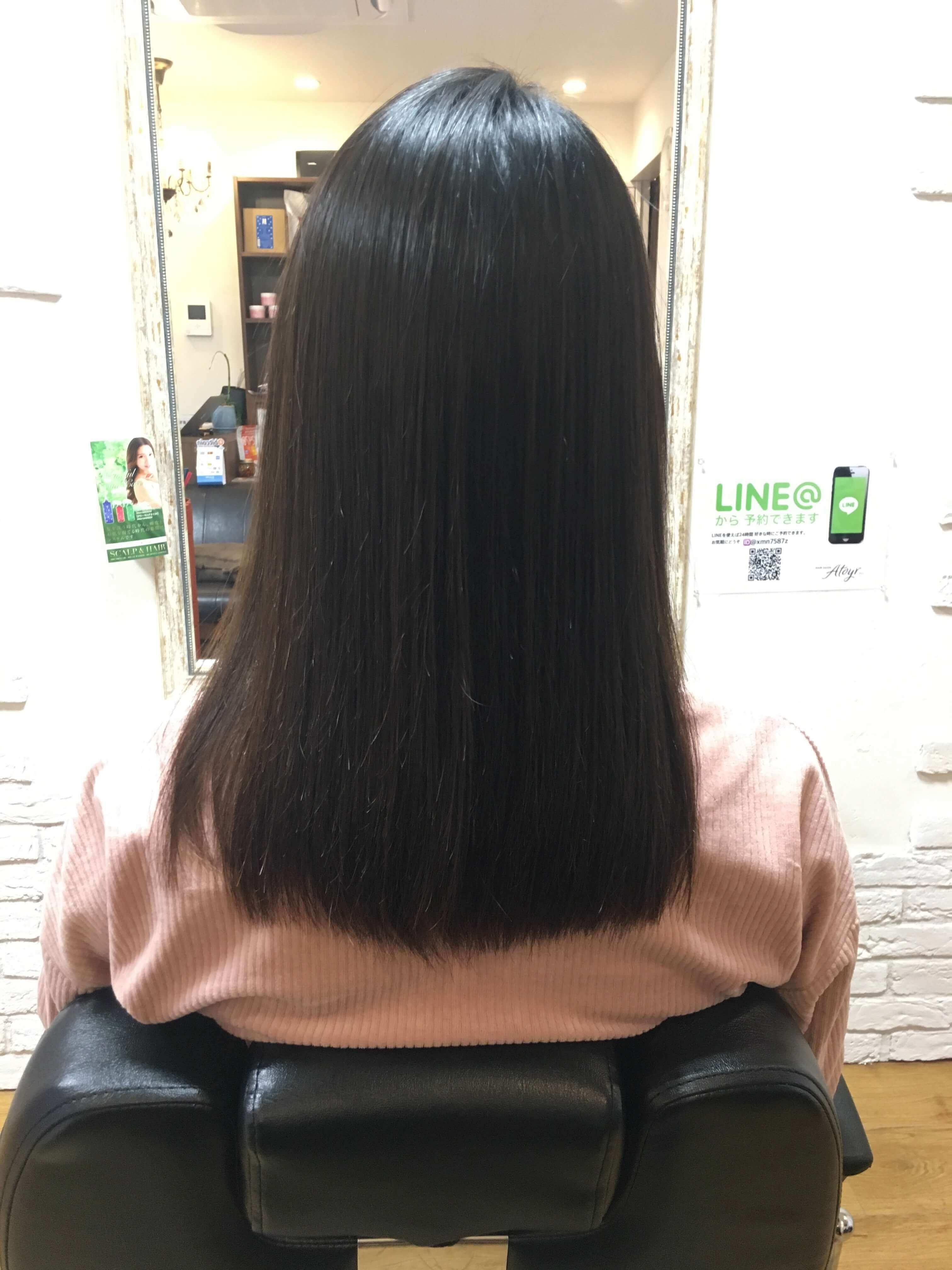 阿倍野の美容院(美容室)アトリ 縮毛矯正・髪質改善その5